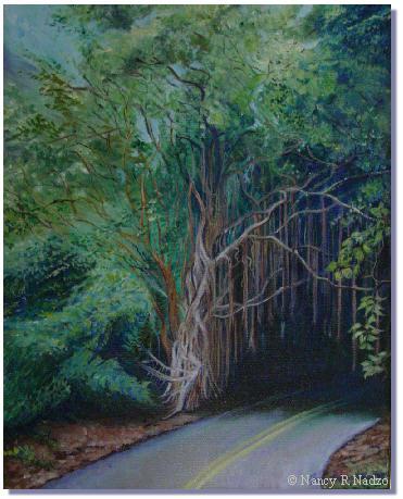 Old Pali Road by Nancy Nadzo