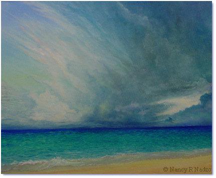 Receding Storm by Nancy R Nadzo