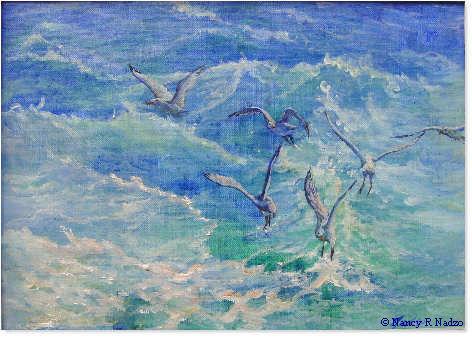 Sea Gulls by Nancy Nadzo